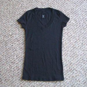 Gap V-neck basic black cotton tee shirt top S
